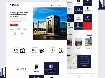 Website Design for Delic Construction wordpress website web ui clean visual design landing page creative ux minimalistic animation ui design webdesign website