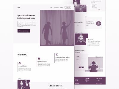 Website Design/Redesign for an Art school wordpress website. wordpress design wordpress ux design web ui clean visual design landing page creative ux minimalistic animation ui design webdesign website