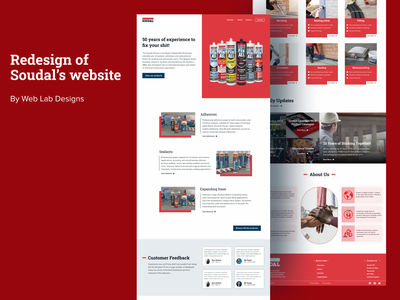 This is a redesign of Soudal Coperation's website wordpress website web ui clean visual design landing page creative ux minimalistic animation ui design webdesign website