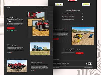 HEOK Agricultural e-commerce design wordpress website web ui clean visual design landing page creative ux minimalistic animation ui design webdesign website