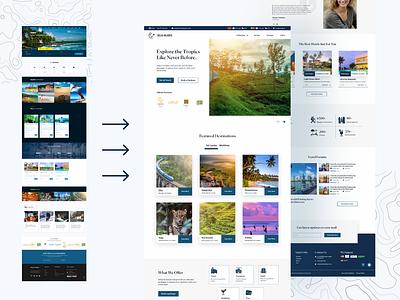 Redesign concept of a Tourism/Travel website wordpress design figma to wordpress website design web design travel website tourism website
