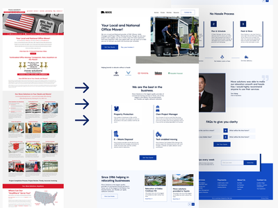 Moving service website redesign wordpress website