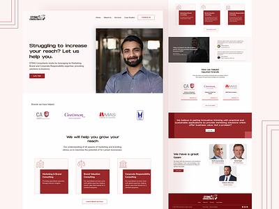 Consultant website redesign case study wordpress website