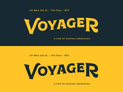 Voyager Brand WIP speakeasy vintage logo type