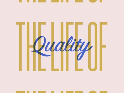Life of quality milk quality design type