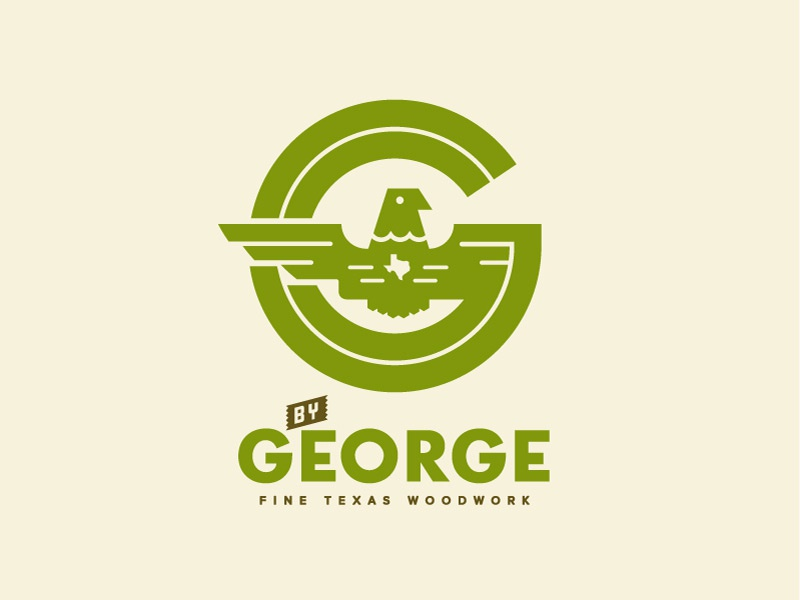 By George logo wood texas george