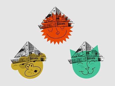 Kiddies & Kitties & Monkeys illustration
