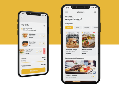 Food Delivery App uxdesign diet graphic design iphone mobile app design interface ux ui delivery food adobexd