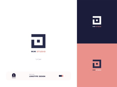 MIM Studio Logotype typography adobe vector illustrator dribbble adobe illustrator branding design brand identity brand design branding brand logo design logodesign logotype logo