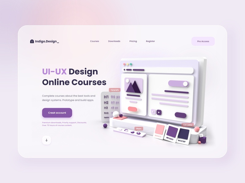 Indigo Design 3d modeling web ux design ui design landing landingpage dribbble application design design website design 3d design website user interface design user experience user interface userinterface ux ui