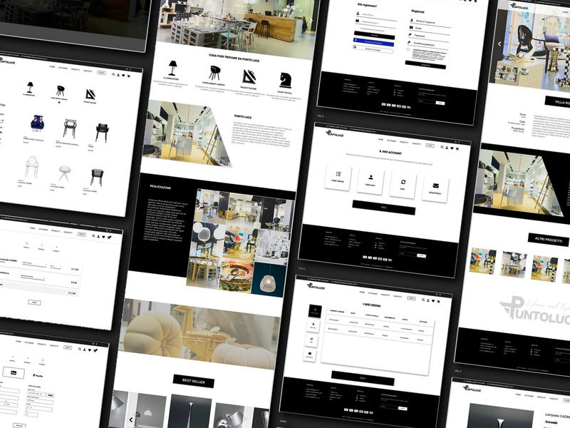 E-commerce website architecture interior design website ux ui design e-comerce