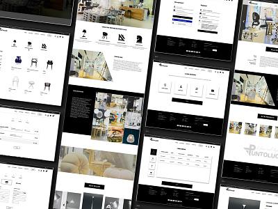 E-commerce website architecture interior design website ux ui design e-comerce