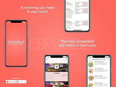 Bespoke Delivery App shops restaurant bespoke delivery design app