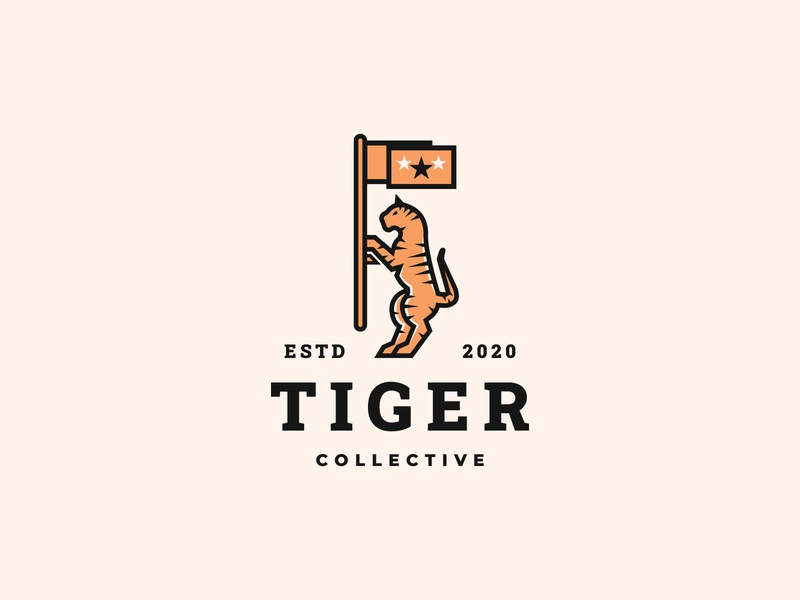 Tiger Collective clothing brand logo logo inspiration logo concept logo design clothing brand logo apparel logo illustration geometric art vector branding logodesign logos animals minimalist logo animal logo clothing company clothing brand