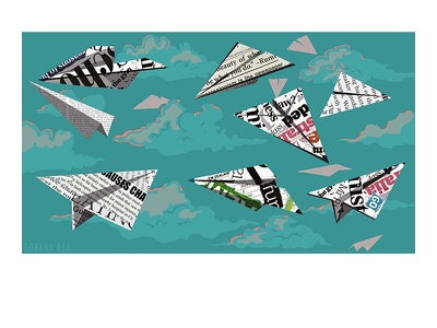 Paperplane news magazine illustration decisions collage art collage paperplane article illustration digital illustration illustration quarantine life fake news