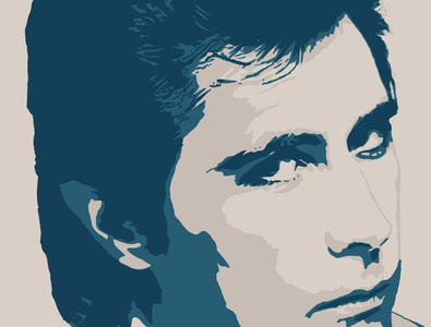 Brian Ferry adobe fresco vector illustration design