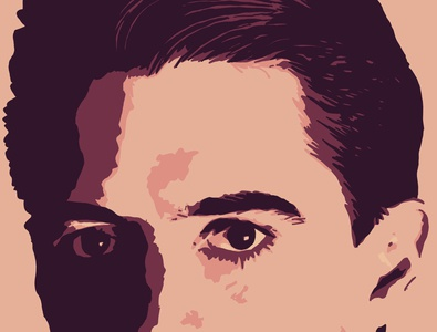 Agent Cooper adobe fresco vector illustration design