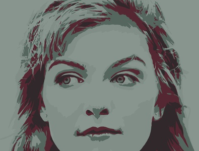Laura Palmer adobe fresco vector illustration design