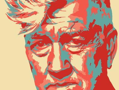 David Lynch adobe fresco vector illustration design