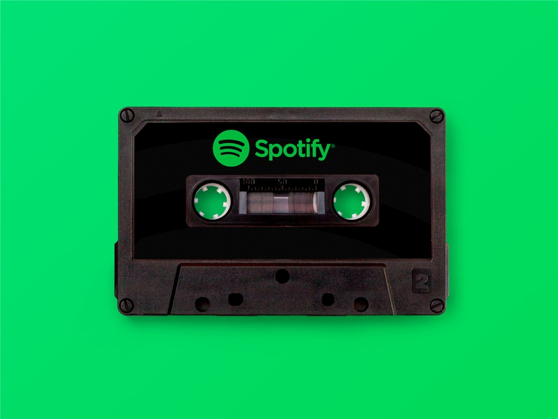 Spotify - Once Appon a Time advertising cassette tape design creativity graphicdesign vintage retrodesign retro spotify