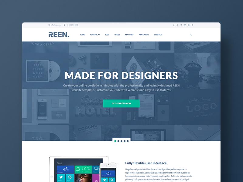 Designer Portfolio Bootstrap Website Template Web Design Creative Webdesign