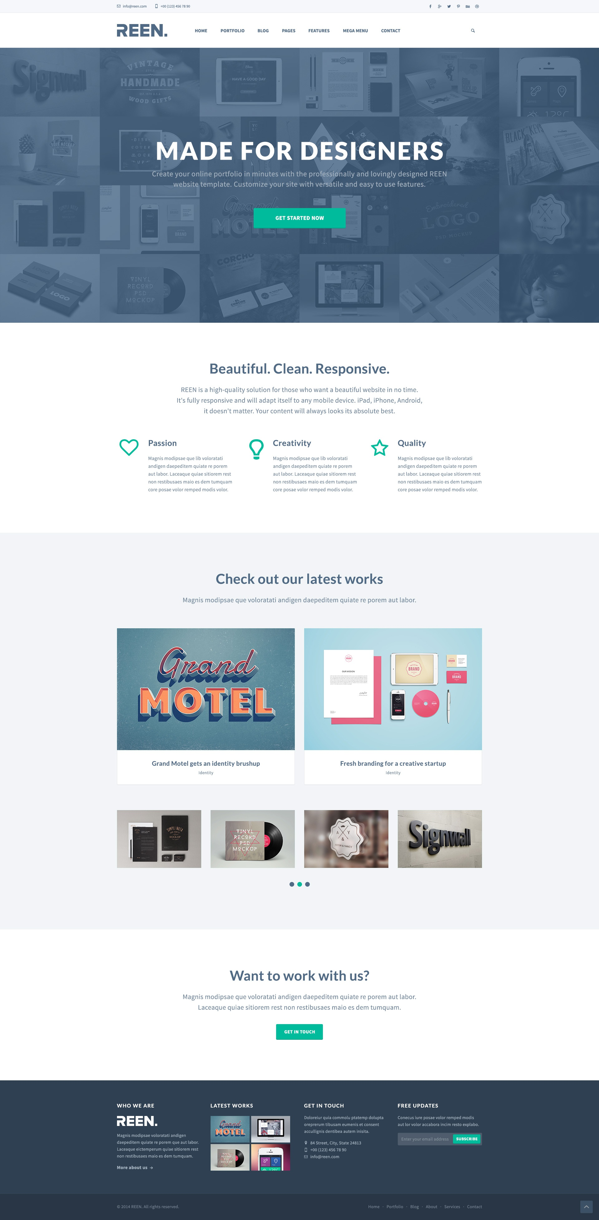 Dribbble free psd creative portfolio bootstrap 3 An website