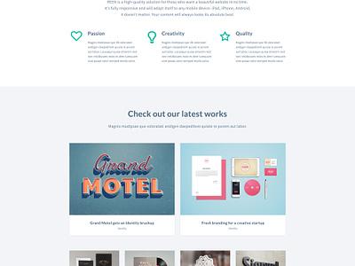 FREE PSD — Designer Portfolio — Bootstrap Website Template web design free freebie psd creative designer portfolio website bootstrap template webdesign free psd