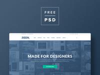 FREE PSD — Designer Portfolio — Bootstrap Website Template