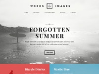 Words and images photography poetry website concept full preview