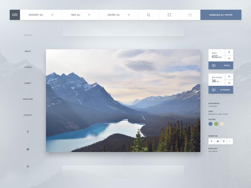 Unsplash Redesign web design website interface design redesign design ui concept unsplash photography screendesign webdesign