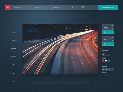 Unsplash Redesign (Dark UI) web design website interface design redesign design ui concept unsplash photography dark screendesign webdesign