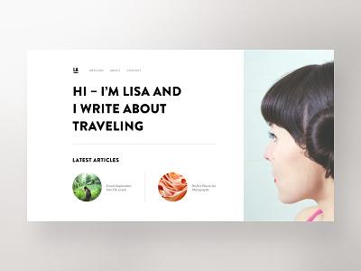 Travel Blog — Hero Exploration web design travel webdesign website concept exploration blog hero unsplash bootstrap