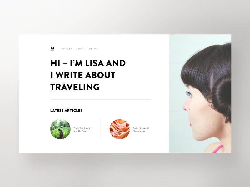 Travel Blog — Hero Exploration web design travel webdesign website concept exploration blog hero unsplash bootstrap
