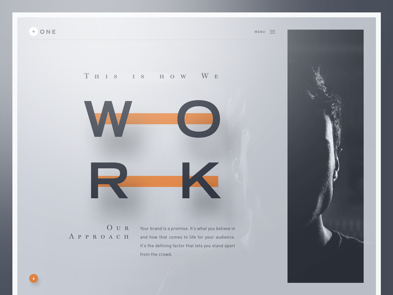 + ONE — Design Lab unsplash webdesign professionals creative agency preview template website designer bootstrap web design