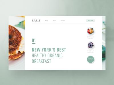 BASIC — Fresh Organic Food new york food organic typography web design webdesign website layout template bootstrap designer concept