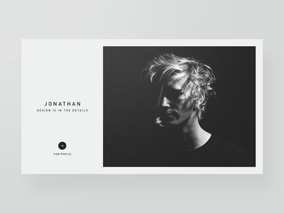 Designer Profiles — Part 1 minimal typography unsplash portfolio creative designer bootstrap template layout website webdesign web design