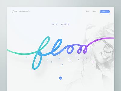 Flow Interactive — Agency unsplash interactive agency web design webdesign website layout template bootstrap designer creative typography