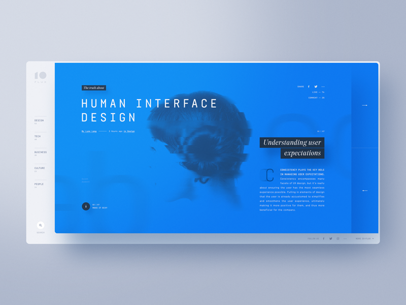 IO Flux — Creative Exchange website web design webdesign unsplash typography template magazine layout exploration designer creative bootstrap