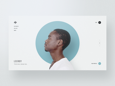 Designer Profiles — Part 3 website webdesign web design typography template simple profile portfolio minimal layout clean bootstrap