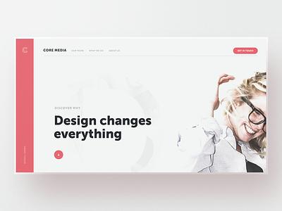 Core Media — v3 website webdesign web design unsplash typography template simple minimal layout clean bootstrap agency