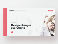 Core Media — v3 website webdesign web design unsplash typography template simple minimal layout clean bootstrap agency