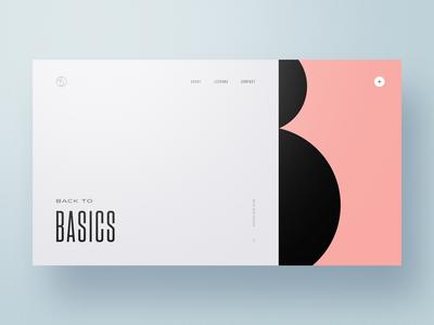 Back to Basics — Part 1 website web design webdesign typography simple principles minimal layout geometry colors clean basics