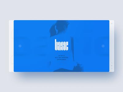 Basic Studio website web design webdesign template simple lettering layout ecommerce clean bootstrap basic agency