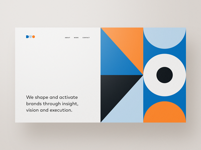 DUO shapes pattern basics clean colors geometry layout minimal simple webdesign web design website