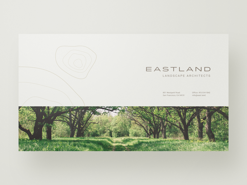 E A S T L A N D website web design webdesign typography unsplash simple minimal layout landing page landscape architecture clean architects
