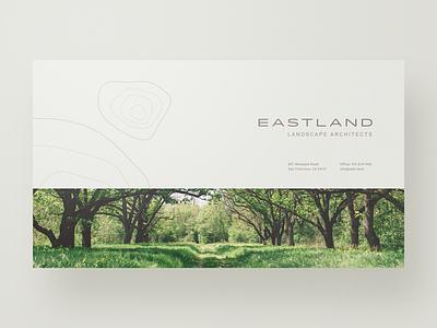 E A S T L A N D website web design webdesign typography unsplash simple minimal layout landing page landscape architecture clean architects