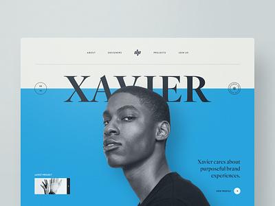 Xavier website web design webdesign typography template simple profile portfolio minimal layout clean bootstrap