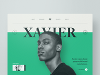 Xavier website web design webdesign typography template simple profile portfolio minimal layout clean bootstrap