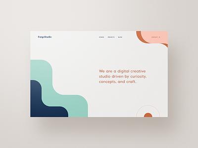 FargoStudio website web design webdesign typography template simple profile portfolio minimal layout clean bootstrap