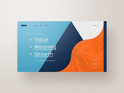 UNO website web design webdesign typography template simple profile portfolio minimal layout clean bootstrap